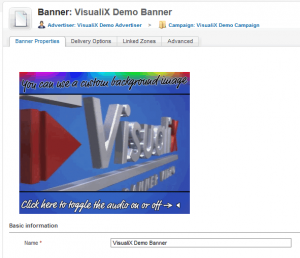 Preview of the In-Banner Video Ad in Revive Adserver (click to enlarge)