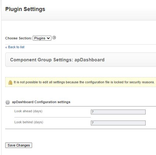 Settings for the DashiX plugin